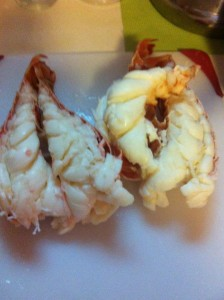 Seafood Sausage Lobster tails steamed