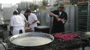 sobe radishes and paella